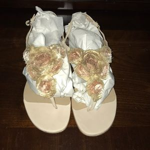 Valentino silk rosier sandals